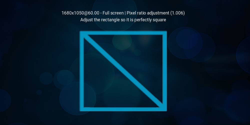 Set kodi screen size