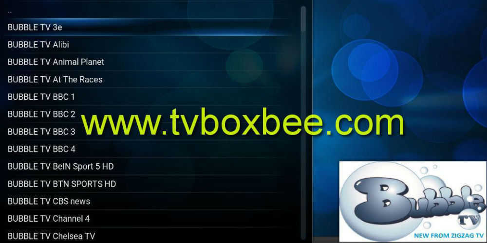 Bubble TV Kodi