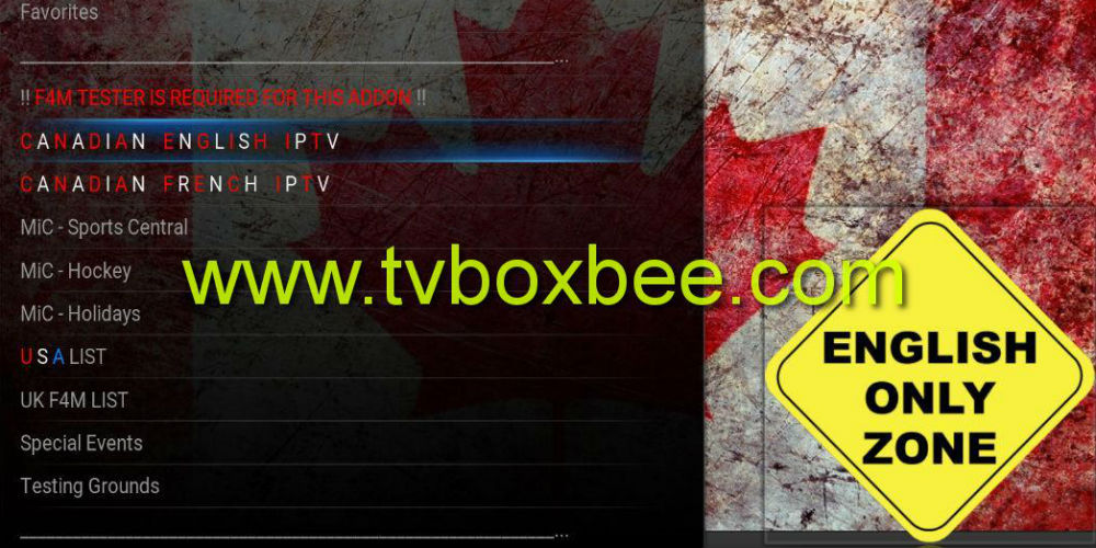 Made In Canada IPTV Kodi