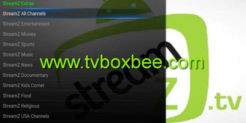 StreamZ TV Kodi