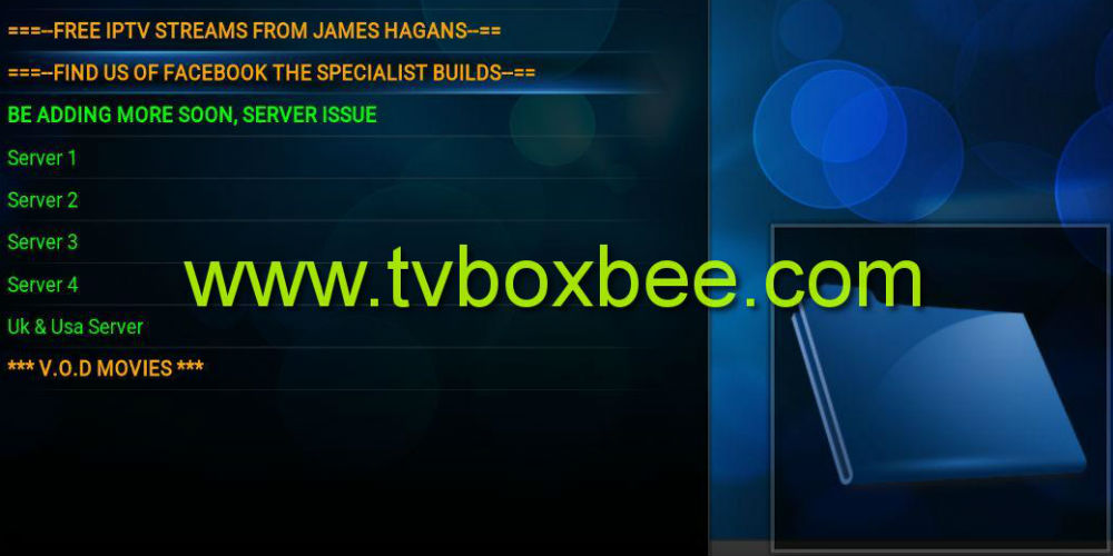 IPTV Streams Addon