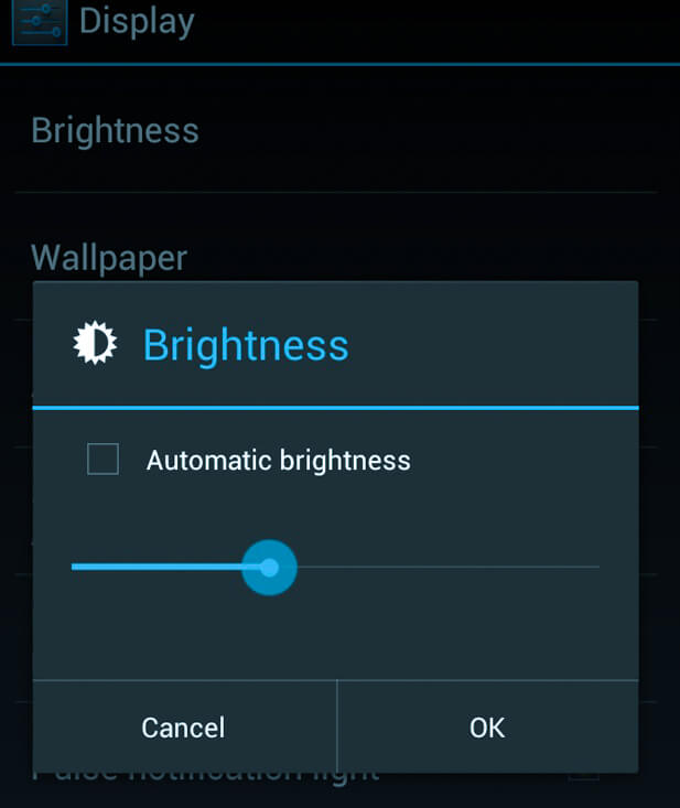 Adjusting the brightness of android, android brightness settings, android auto brightness