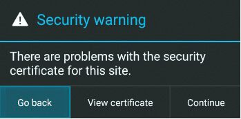 Android Security Certificate Errors, fix android security certificate errors