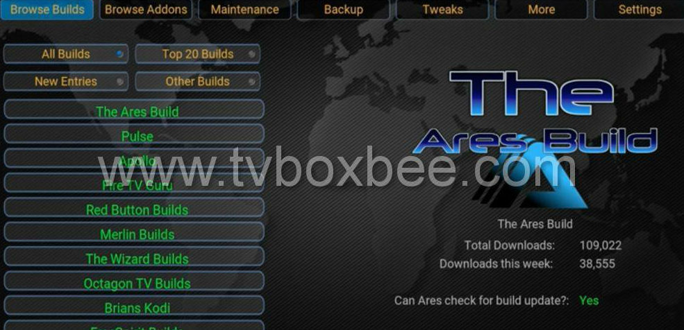 New Ares Wizard for Kodi