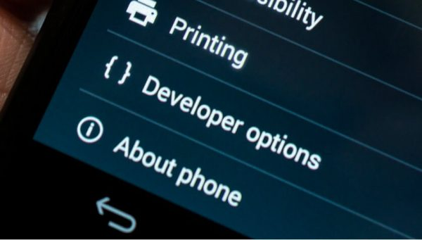 Modify developers option, Android's developer options.
