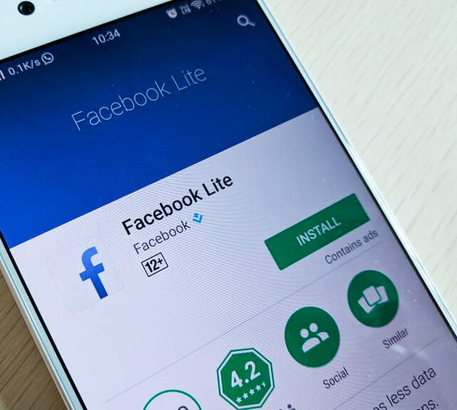 Use facebook lite, android facebook lite, install facebook lite on your android phone