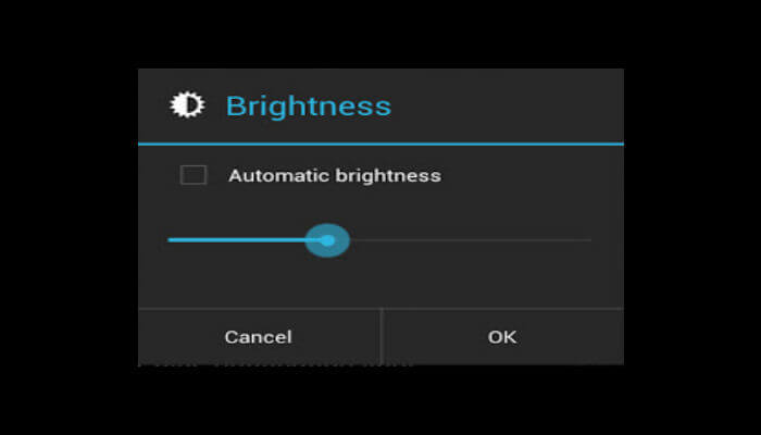 Automatic Brightness on android