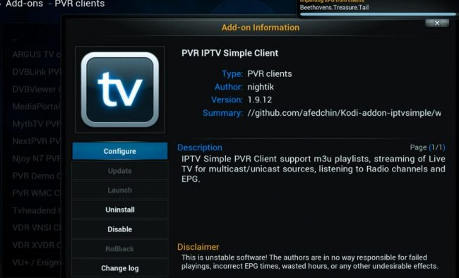 enable live tv on kodi, how to enable your live tv on kodi, live tv kodi