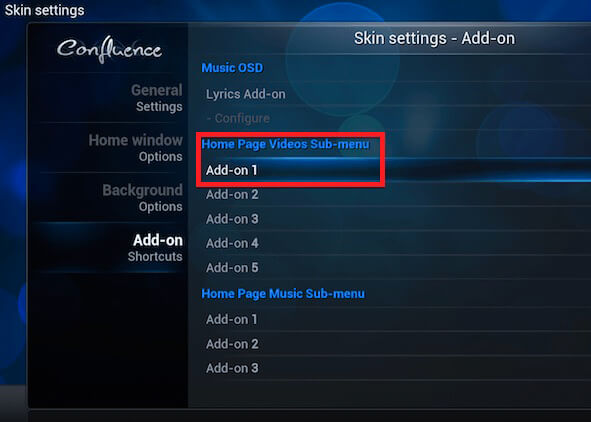 explore skin options, kodi skin, how to change skin on kodi