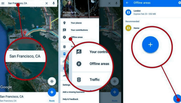 save google maps, how to save google maps on android