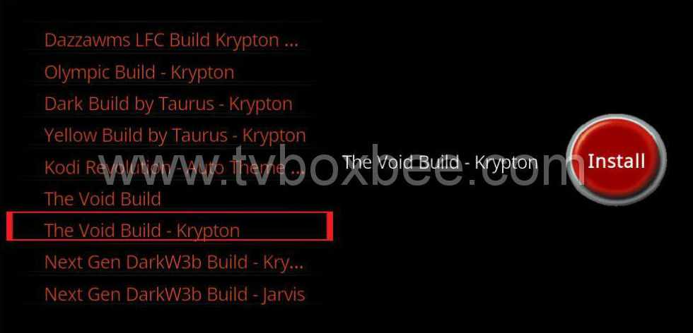 The Void Build for Kodi krypton