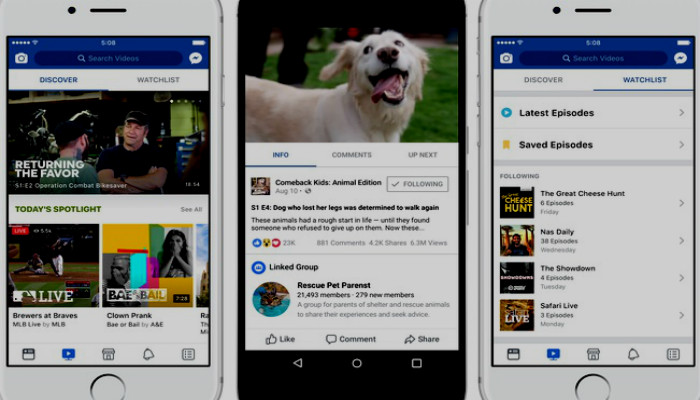 facebook new streaming watch, new feature facebook watch