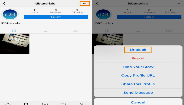 unblock users on instagram, how to unblock someone instagram