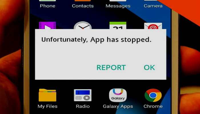 unfortunately, app has stopped, apps stop error, how to fix apps stop error
