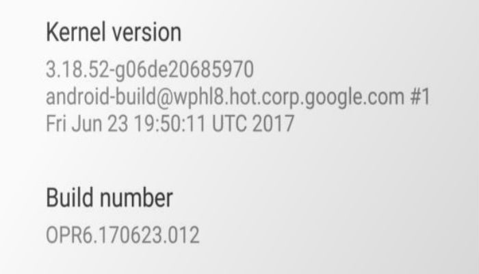 Android Oreo kernal version