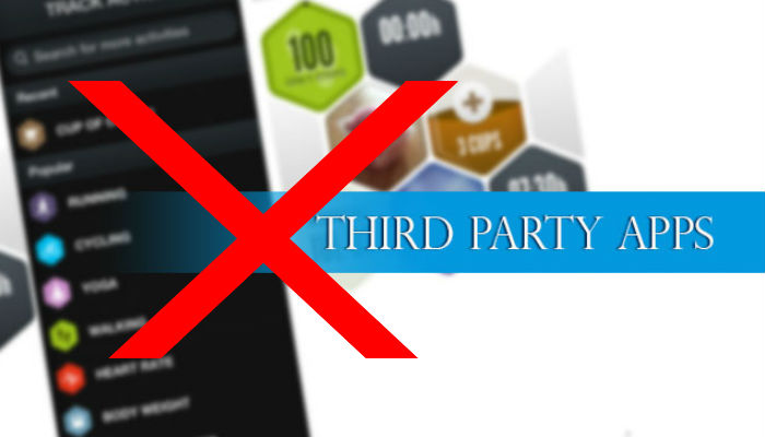 no third party apps