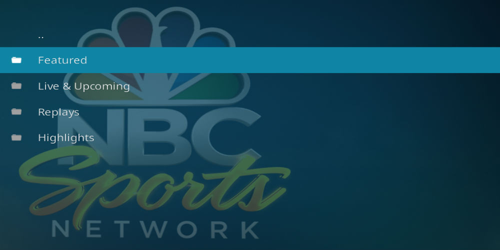 NBC Sports Extra Live Addon for kodi
