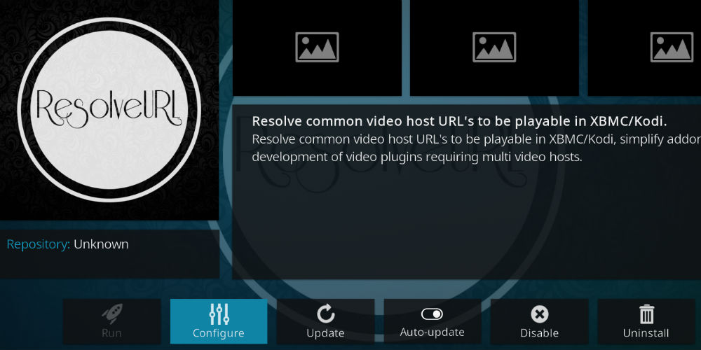 ResolveURL Dependency for kodi