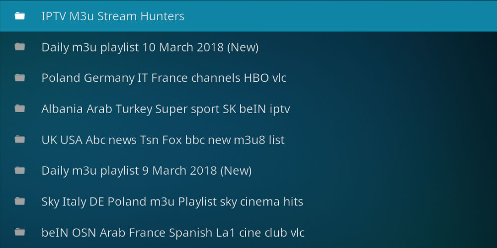 IPTV Bonanza Addon on Kodi