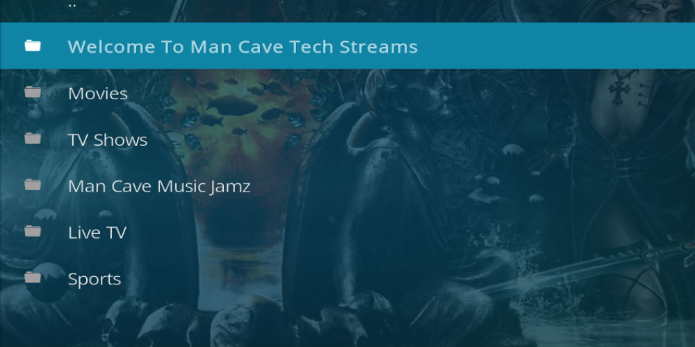 Man Cave Tech Streams Kodi Addon