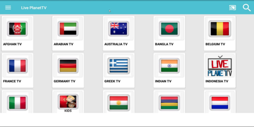 LivePlanetTV for android
