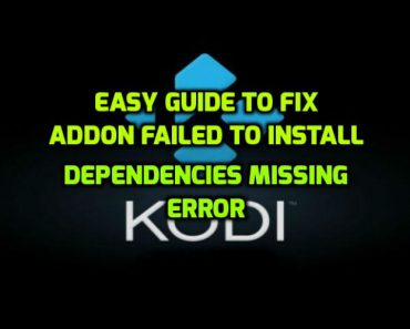 Dependency missing error kodi