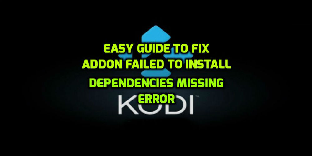 kodi ccloud failed to install a dependency