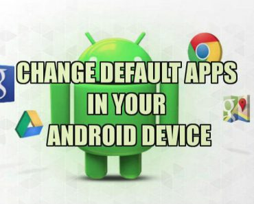 change default Apps settings in android device