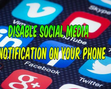 Disable social media notification on your phone, how to disable social media notification on android phone