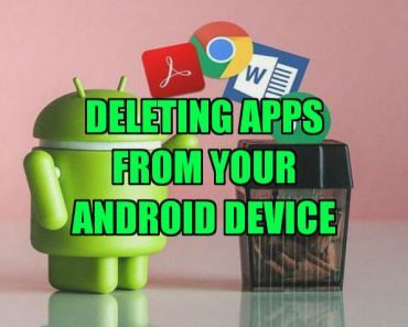 delete apps on android device