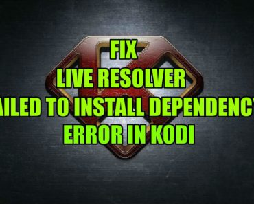 LiveResolver failed to install dependency