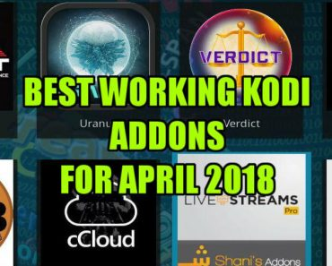 Top Best Working Kodi Addons April 2018