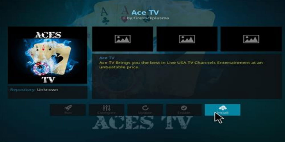 Ace TV Kodi Addon Kodi