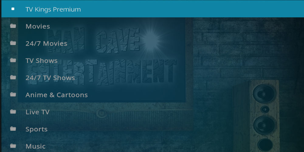Man Cave Entertainment Kodi Addon