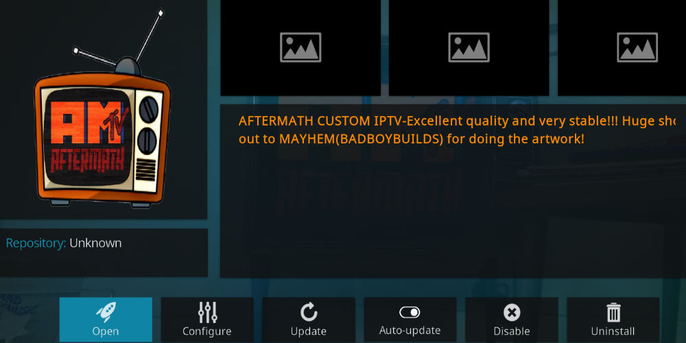 Aftermath Kodi Addon