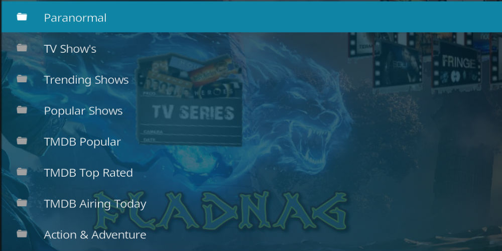 Fladnag TV Shows Kodi Addon