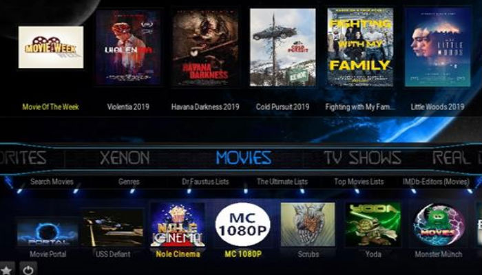 Diggz Xenon Kodi 18 leia Build