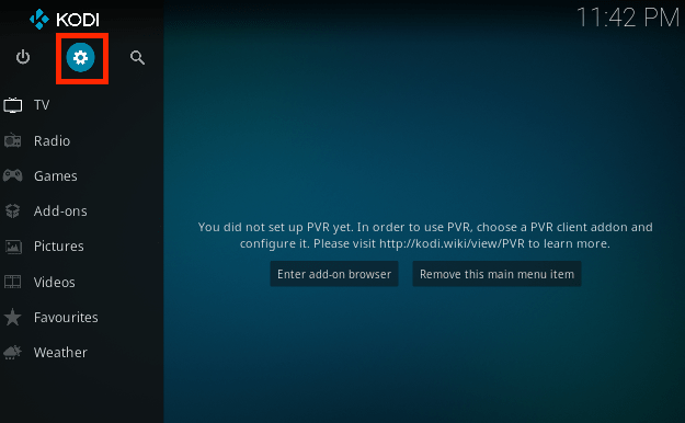 settings in kodi